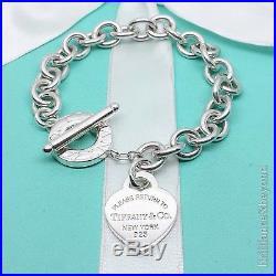 653e63250 Return to Tiffany & Co Heart Tag Toggle Charm Bracelet 925 Silver Authentic