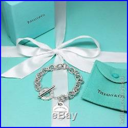 Return to Tiffany & Co Heart Tag Toggle Charm Bracelet 925 Silver Authentic