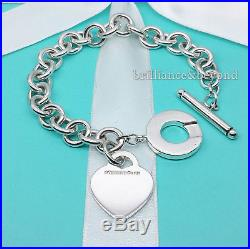 8ecf48cab Return to Tiffany & Co Heart Tag Toggle Charm Bracelet 925 Silver Authentic