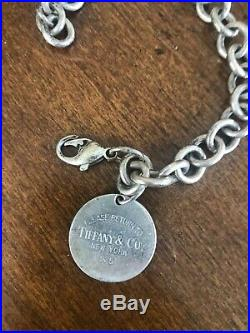 Return to Tiffany & Co. Oval Tag Charm Chain Bracelet Sterling Silver And Ring