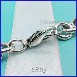 Return to Tiffany & Co. Round Tag Bracelet Charm 925 Sterling Silver Box + Pouch