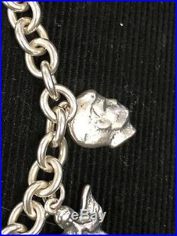 SUPER RARE RETIRED James Avery 7 Milagros Silver Charms And Bracelet