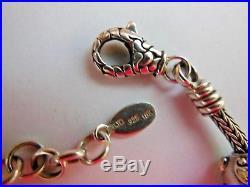 Samuel B Benham BJC Sterling Silver 18k Gold Blue Topaz Slide Charm Bracelet