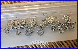 Silpada ANCIENT COIN Charm Bracelet Classic B1624.925 Sterling Silver Cha Cha