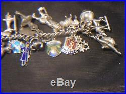 Silver Charm Bracelet 34 Charms