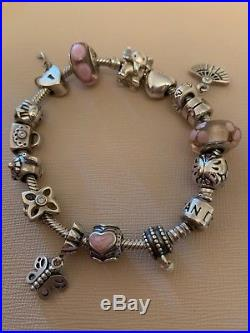 Silver Pandora Moments Charm Bracelet With 15 Charms