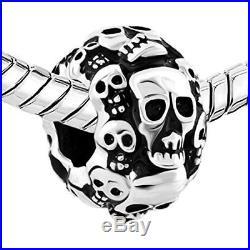 Skull Halloween Skeleton Spacer Charm Beads Pandora Jewelry Charms Bracelet