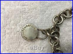 Sterling Silver Charm Bracelet Present Padlock 7 30 Grs Tiffany & Co Style