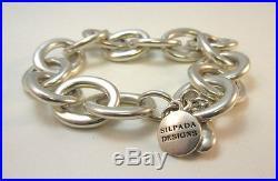 Sterling Silver Silpada Oval Link Arrowhead Charm Bracelet
