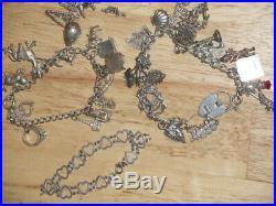 Superb Silver Charm Bracelets Job Lot
