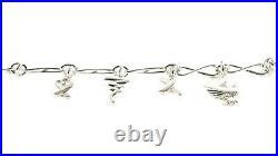 TIFFANY & CO. Women's Paloma Picasso Sterling SIlver Charm Bracelet $650 NEW
