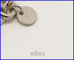 TIFFANY&Co 1837 Lock Charm Bracelet Silver 925 Bangle withBOX k439