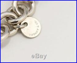 TIFFANY&Co 1837 Lock Charm Bracelet Silver 925 Bangle withBOX t695