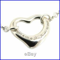 TIFFANY&Co 5 Open Heart Charm Bracelet Peretti Silver 925 Bangle