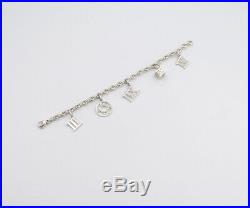 TIFFANY&Co Atlas Charm Bracelet Sterling Silver 925 Bangle withBOX