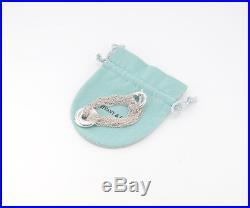 TIFFANY&Co Multi Strand Mesh Bracelet Round Charm Silver 925 #1602