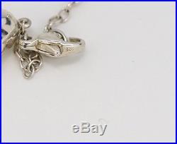 TIFFANY&Co Nugget Bean Charm Bracelet Peretti Silver 925 Bangle withBOX #382