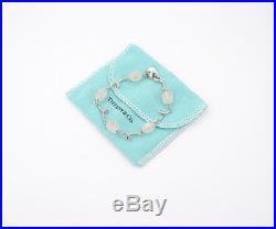 TIFFANY&Co Rose Quartz Charm Bracelet Silver 925 Bangle excellent #945