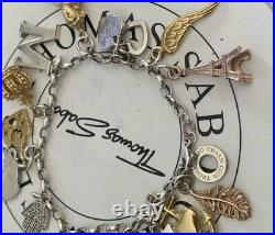 Thomas Sabo Silver Women's charm Bracelet with rose gold yellowithsterling charms