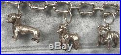 Tiffany Alliance Sterling Dog Charm Bracelet Poodle Dachshund Labrador Terrier