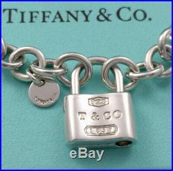 Tiffany & Co. 1837 Padlock Charm Bracelet, Sterling Silver 925, 7