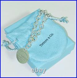 Tiffany & Co. 925 Sterling Silver Return To Tiffany Circle Tag Charm Bracelet