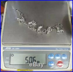 Tiffany & Co Alliance 925 Silver Dog Charm Poodle Retriever Terrier Bracelet