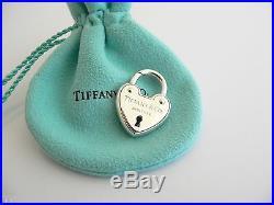 Tiffany & Co Arc Heart Padlock Lock Pendant Charm 4 Necklace Bracelet Silver