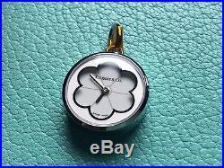 Tiffany & Co BLOSSOM white enamel dial pendant watch charm for chain or bracelet