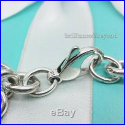 Tiffany & Co. Cross Charm Bracelet Medical 925 Sterling Silver Box + Pouch RARE