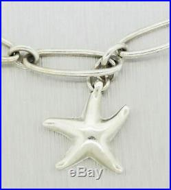 Tiffany & Co. Elsa Peretti Sterling Silver 6.5 Starfish Charm Bracelet with Pouch