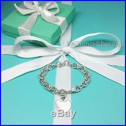 Tiffany & Co. Heart Tag Charm Bracelet Chain 925 Sterling Silver Authentic