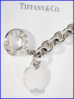 c7690ca7e Tiffany & Co Heart Tag Charm Toggle Sterling Silver Bracelet ...