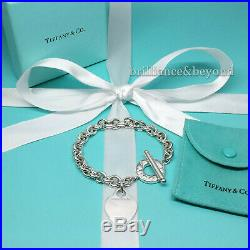 Tiffany & Co Heart Tag Toggle Bracelet Chain Charm 925 Sterling Silver Authentic