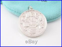 Tiffany & Co NEW Silver Queen Bee Coin Charm Pendant 4 Necklace Bracelet