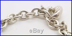 Tiffany & Co RARE Silver Baby Duck Shoes Box Bear Cup Charm Bracelet Bangle