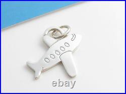 Tiffany & Co RARE Silver Plane Pendant Charm 4 Necklace Bracelet