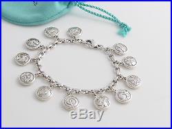 Tiffany & Co RARE Silver Zodiac Circle Round Charm Chinese Western Bracelet