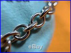 Tiffany & Co. Rare Sterling Silver 925 Teddy Bear Charm Link Bracelet Size 7