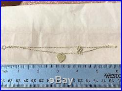 Tiffany & Co Return To Love Heart Key Charm Bracelet Sterling Silver Small 6