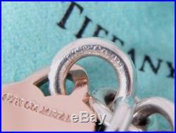 Tiffany & Co Return To Rubedo Metal Small Heart Charm Tag 8 Silver Bracelet