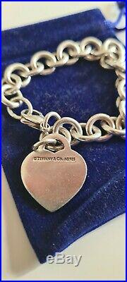 Tiffany & Co Return To Tiffany Heart Tag Charm Bracelet, Silver 925