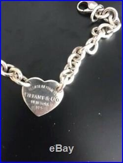 Tiffany & Co'Return To Tiffany' Sterling Silver Heart Tag Charm Bracelet