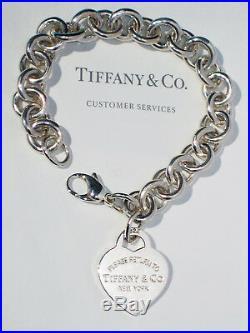 Tiffany & Co Return To Tiffany Sterling Silver Heart Tag Charm Bracelet