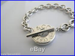 ef14b65ca Tiffany Co Silver 1837 Circle Toggle Clasp Charm Bracelet Bangle