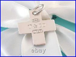 Tiffany & Co Silver 1837 Cross Charm Pendant For Necklace Bracelet