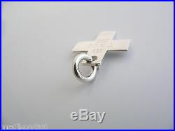 Tiffany & Co Silver 1837 Cross Pendant Charm Clasp for Necklace or Bracelet Rare