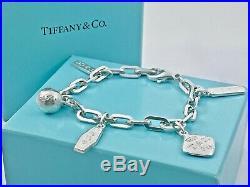 Tiffany & Co. Silver 1837 Elements 5 Five Charm Bracelet 7in / 22.7gr. 190221G