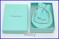 Tiffany & Co. Silver 1837 Lock Charm Mini Ball Bead Bracelet
