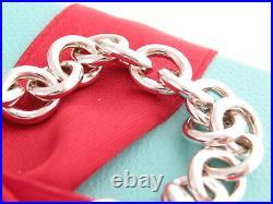 Tiffany & Co Silver 1837 Padlock Charm Bracelet 7